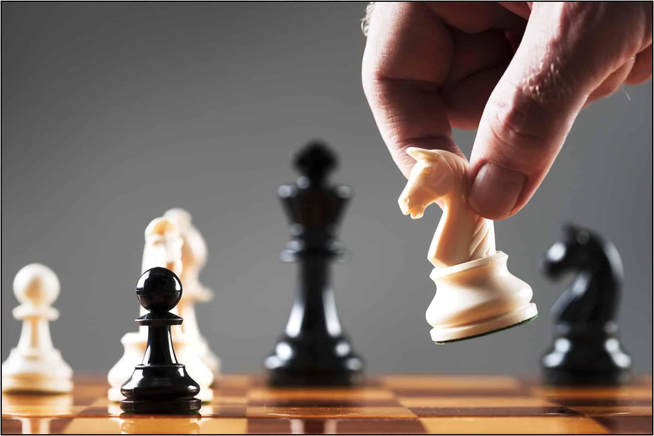 šachmatų strategijos prekybos figūros